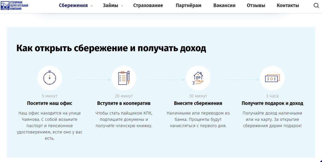 Официальный сайт КПК Столичная сберегательная компания